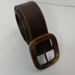 Fossil Full Grain Cowhide Leather Belt Brown Sz 32